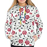 Women's Fashion Hoodies 800D Print,Abstract Silhouettes Stylized Gardening Bedding Plants Curly...