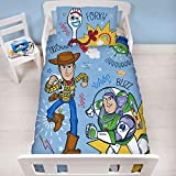 Official Toy Story 4 Junior Toddler Roar Cot Bed Duvet Cover | Woody, Buzz Lightyear & Friends...