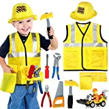 Tacobear Construction Worker Costume for Kids Engineering Role Play Dressing Up Costumes with Play...
