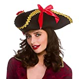 Wicked Costumes Adult Ladies Tricorn Pirate Hat Fancy Dress Accessory
