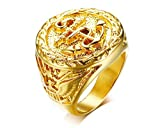 Joielavie Jewellery Anchor Nautical Marine Gold Plated Dome Casting Engraved Stainless Steel Cool...