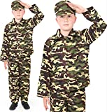 BOYS ARMY FANCY DRESS OUTFIT. CHILDS COMBAT SOLDIER COSTUME. CHILDS MILITARY UNIFORM FOR THE...