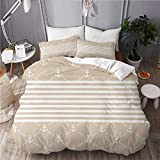 902 ZAKAEVO Duvet cover with Pillowcase Quilt Bedding set,Classical Nautical Pattern with Anchor...
