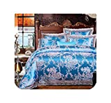 Wild-lOVE King Queen size White Red Bedding Set Wedding Bed set Jacquard Cotton Duvet Cover Bed set...