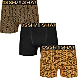 Crosshatch Mens Boxers Shorts (3 Pack) Multipacked Underwear Gift Set Stylefour, Red Orange -...