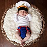 AFCITY Newborn Baby Girl Boy Costume Children's Photography Suit Baby Hat Suit US Marine Corps Small...