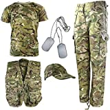 Kombat UK Kid's BTP Camouflage Explorer Army Kit, British Terrain Pattern, 5-6 Years