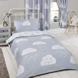 Price Right Home Happy Clouds Junior Toddler Duvet Cover and Pillowcase Set