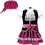 Crystallly Baby Girl 3 Pcs Clothes Princess Costume Pirate Set Gothic Simple Style Dress Sash...