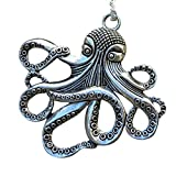 umbrellalaboratory Steampunk Octopus Nautical Pirate Necklace Pendant Charm