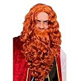 GINGER WIG AND BEARD FOR PIRATES OR VIKING FANCY DRESS COSTUME (GINGER BEARD AND WIG)