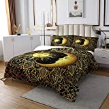 Sugar Skull Bedspread Skull Pattern Duvet Set Nautical Bedding Set Halloween Themed Duvet for...