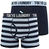 Nicholson (2 Pack) Striped Boxer Shorts Set in Blue Fog / Sky Captain Navy – Tokyo Laundry - M