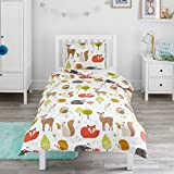 Bloomsbury Mill - Woodland Animals - Kids Bedding Set - Junior/Toddler/Cot Bed Duvet Cover and...