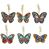 Jestang 5D DIY Keychains Diamond Painting Paint by Numbers Kits, Special Shape Diamond Painting...