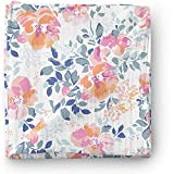 Aenne Baby Girl Rose Muslin Swaddle Blanket Floral Orange Pink Tropical Large 47 x 47 inch, 1 Pack,...