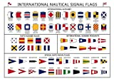 International Nautical Signal Flags Poster - Paper Laminated (A2)