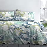 Fusion - Tie-Dye - Easy Care Duvet Cover Set - Double Bed Size in Blue