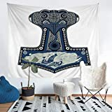 Loussiesd Anchor Tapestry 3D Sailboat Print Tapestries Wall Hanging for Kids Boys Adults Nautical...