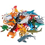Sea Animal Figures Animal Toys 38PCS - Nabance Mini Sea Animal Toys Set Realistic Animal Sea Life...