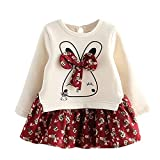 Girls Dresses Clothes Set for 1-5 Years, Weant Newborn Baby Infant Toddles Girls Cute Cartoon Rabbit...