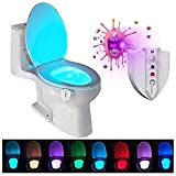 Caxmtu LED Toilet Light Nightlight with UV-C Light Motion Detection Night Light Sensitive Dusk to...