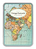 Vintage World Maps Carte Postale Postcards