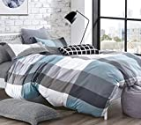 Louisiana Bedding Nautical Stripe Reversible Duvet Cover Set 100% Cotton 200 Thread Count Navy White...
