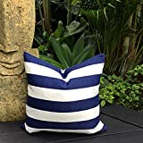 Hose233 Outdoor Cushion Cover Classic Stripe Outdoor Pillows Navy and White Outdoor pillows Coastal...