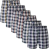 Charles Wilson 6 Pack Woven Boxer Shorts (3X-Large, Large Check 55)