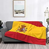 Throw Blanket Lightweight Ultra-Soft,Red Spanish Flag Of Spain Arms Accurate Dimensions Proportions...
