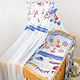 10 Piece Cot Bedding Set with Drape and Safety Padded Bumper fits 120x60 cm Cot (16)