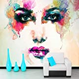Luufei Modern Abstract Art Mural Wallpaper 3D Hand Painted Cool Colorful Figure Photo Wall Painting...