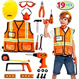 JOYIN Construction Worker Costume Role Play Tool Toys Set for 3-6 Years Old Kids, Great Educational...