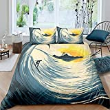 Hqooaceo® Bedding Sets 3D Double size 200 x 200 cm Printing Duvet Cover for Girl Comforter Bedding...