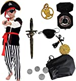Tacobear Pirate Costume for Kids with Pirate Accessories Pirate Hat Pirate Eyepatch Dagger Compass...