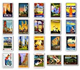 Vintage Travel Posters Postcard Set of 20. Post Cards Depicting The Original 1920s-1940s Posters....