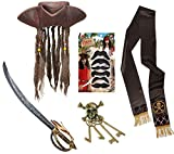 Mega_JumbleSale® Deluxe Pirate Captain Jack Sparrow Caribbean Pirate - Hat with Beads and Attached...