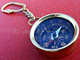 Samara Nautical Brass Compass Keychain Marine Nautical Key Ring Bulk Wholesale Lot of 50 Pcs