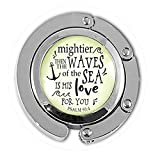 asd Anchor Keychain Mightier Than The Waves Christian Inspired Bible Quote God's Love Verse Womens...