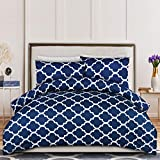 Utopia Bedding Printed Duvet Cover Set - Brushed Microfibre Duvet Cover with 2 Pillowcases (Double,...