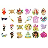 Henbrandt PIRATE & PRINCESS CHILDRENS TEMPORARY TATTOOS x 60 Party Bag Filler Kids Toy