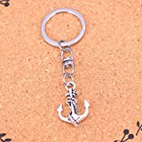 TAOZIAA Fashion Antique Silver pendant anchor rope charms keychain key ring jewelry