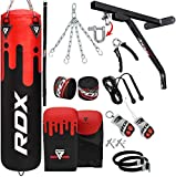 RDX Punch Bag for Boxing Training, 4ft 5ft Filled Heavy Bag Set with Punching Gloves, Chain, Wall...