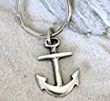 Trilogy Jewelry Pewter Anchor Nautical Navy Boat Christian Keychain Key Tag Fob Ring
