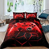 Loussiesd Boys Gaming Comforter Cover Single Games Bedding Set Kids Teens Video Game Controller...