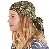 Womens Long Boho Bandana Headwrap - Mens Chemo Turban Cap Gypsy Pirate Costume Vacation Beach...