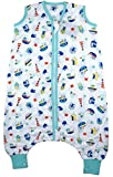 Slumbersac Muslin Sleeping Bag with Feet and Poppers - Approx. 0.2 Tog - Nautical - 70cm