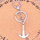 N/ A ZHTTCD Fashion Silver Color Alloy Metal Pendant anchor hope sea Key Chain Key Ring Gift For Car...