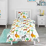 Bloomsbury Mill - Safari Adventure - Jungle Animals - Kids Bedding Set - Junior/Toddler/Cot Bed...